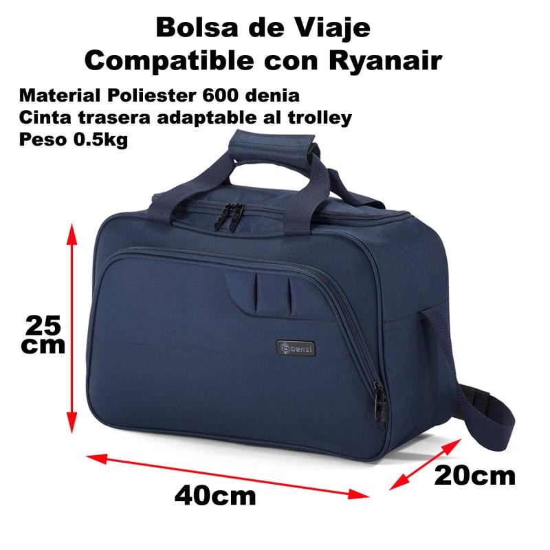 60% de liquidación comprar online brillo de color benzi bolsa de viaje bz5410 equipaje de mano ryanair 40x25x20cm
